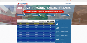 International vehicle routes, ads website - Rutiera